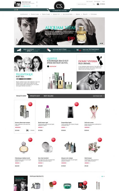 BossThemes Cosmetic - OpenCart Cosmetic Theme - Home Green