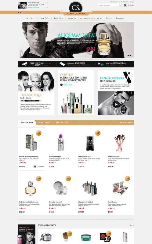 BossThemes Cosmetic - OpenCart Cosmetic Theme - Home Yellow
