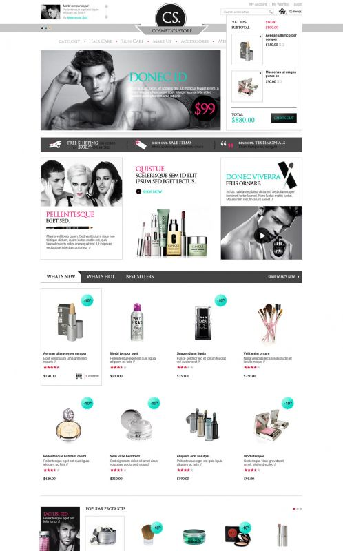BossThemes Cosmetic - OpenCart Cosmetic Theme - Shopping Cart
