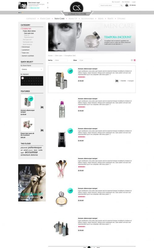 BossThemes Cosmetic - OpenCart Cosmetic Theme - Category List