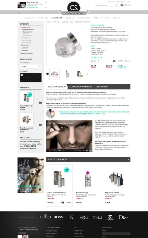 BossThemes Cosmetic - OpenCart Cosmetic Theme - Product Details