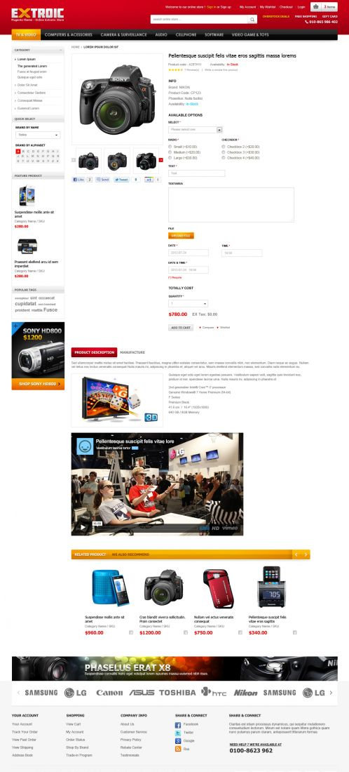 Boss Extroic - OpenCart Theme - Product Details