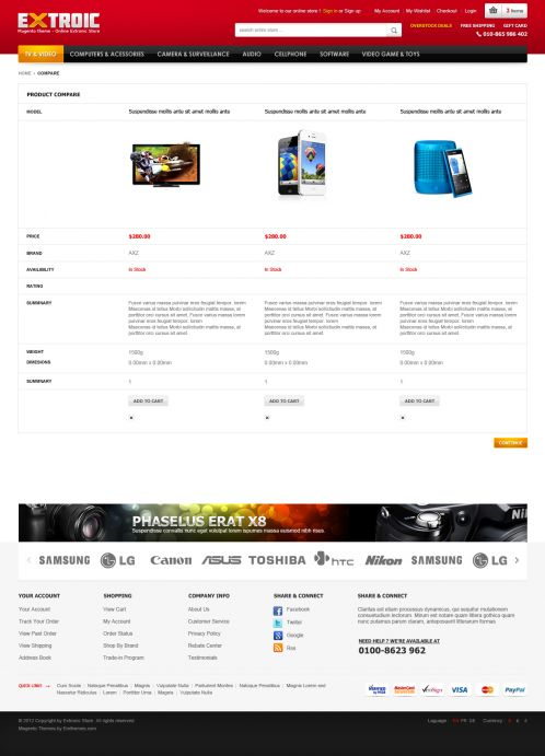 Boss Extroic - OpenCart Theme - Compare