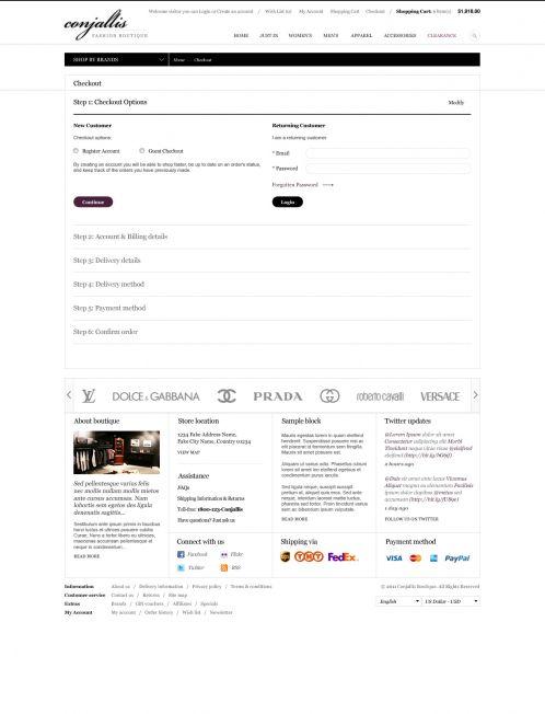 BossThemes Fashion OpenCart Theme - Checkout