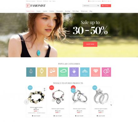 OpenCart New Fashion Theme - Fashionist