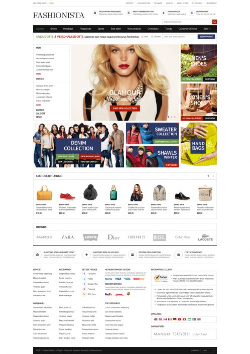 Boss Fashionista - OpenCart Theme - Home