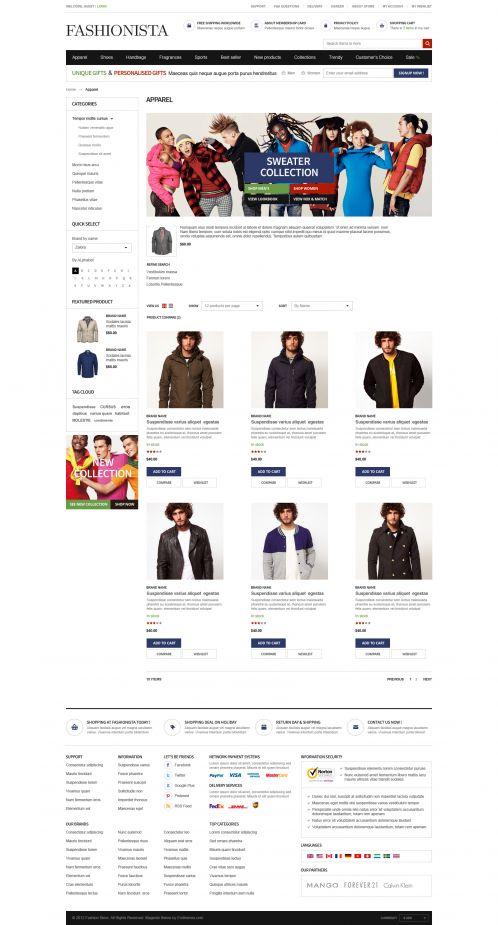 Boss Fashionista - OpenCart Theme - Category Grid