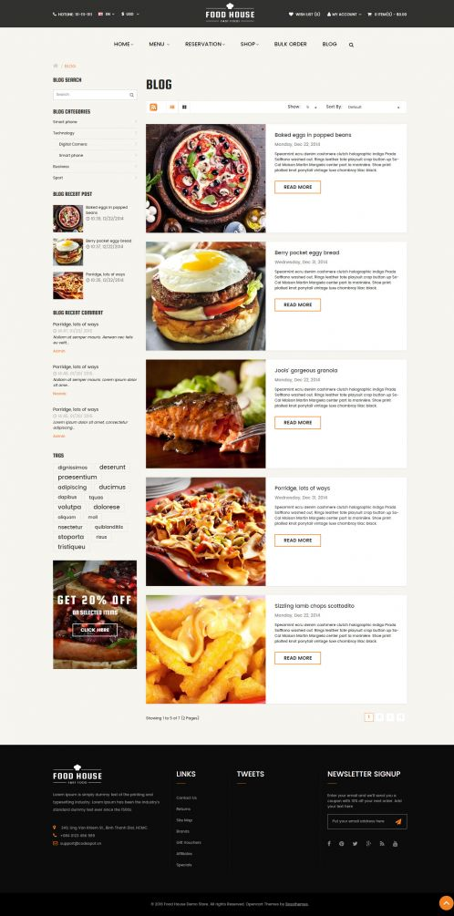 Bossthemes FoodHouse - Blog