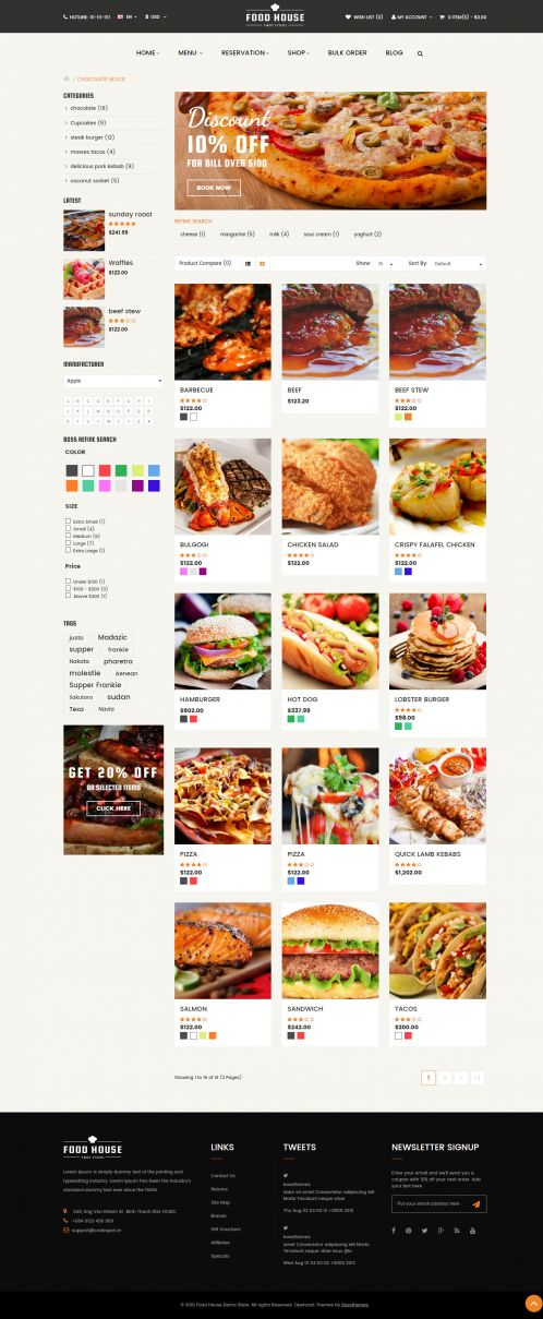 Bossthemes FoodHouse - Category Grid