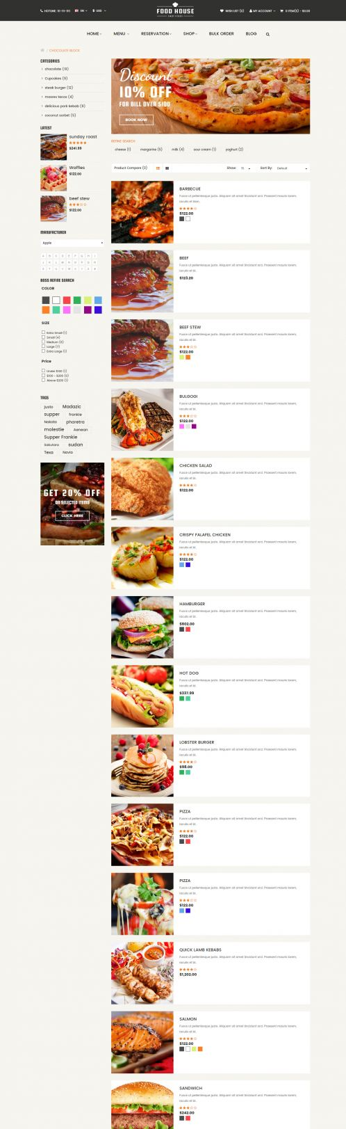 Bossthemes FoodHouse - Category List