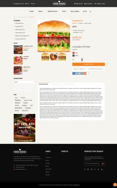 Bossthemes FoodHouse - Product