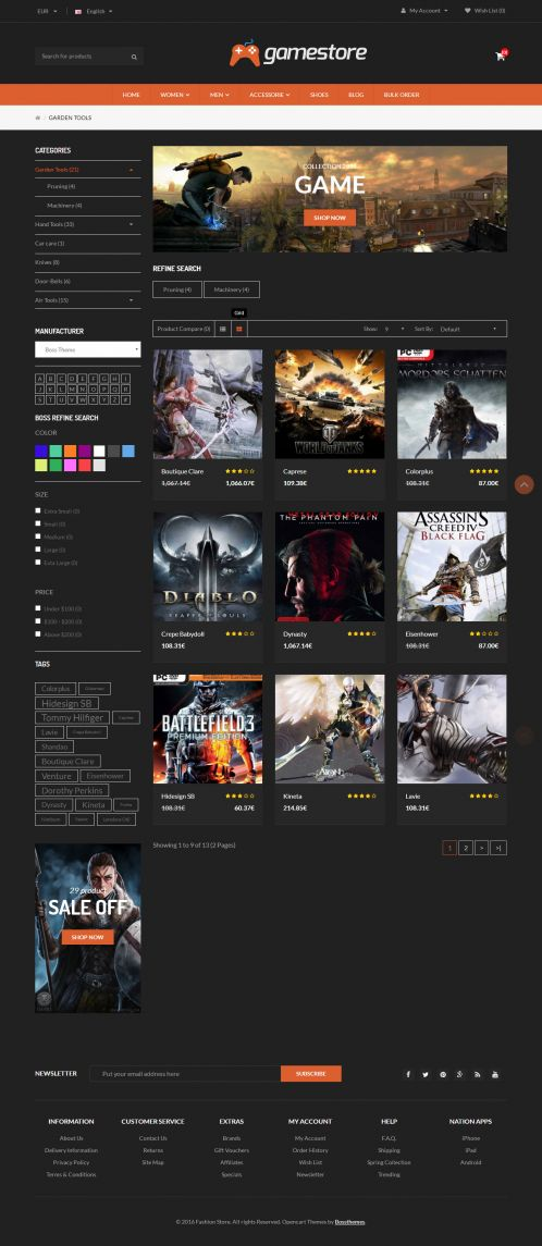 Bossthemes Gamestore - Category Grid