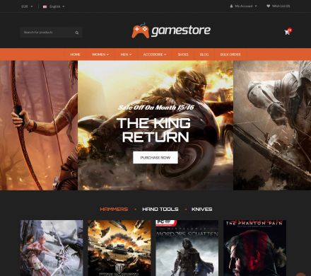 GameStore - Responsive OpenCart Game Theme