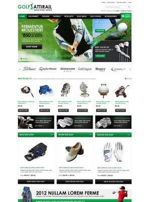 Golf Store OpenCart Theme
