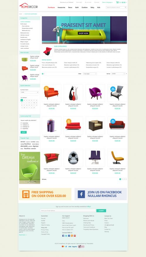 Bossthemes HomeDecoration - Category Grid