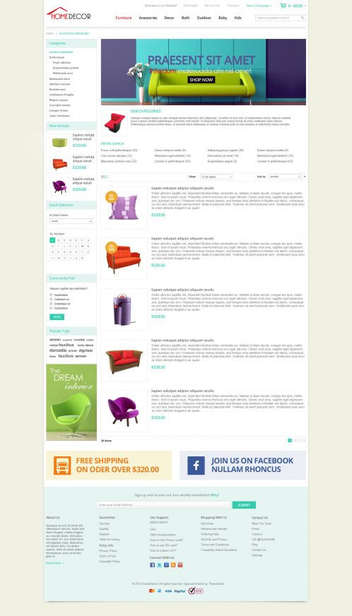 Bossthemes HomeDecoration - Category List