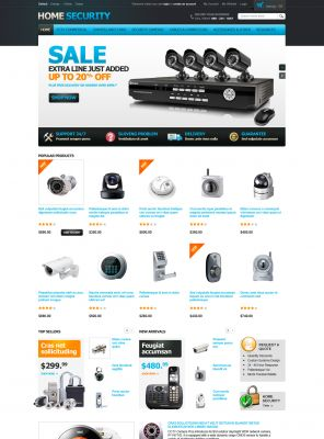 Home Security Responsive OpenCart Theme