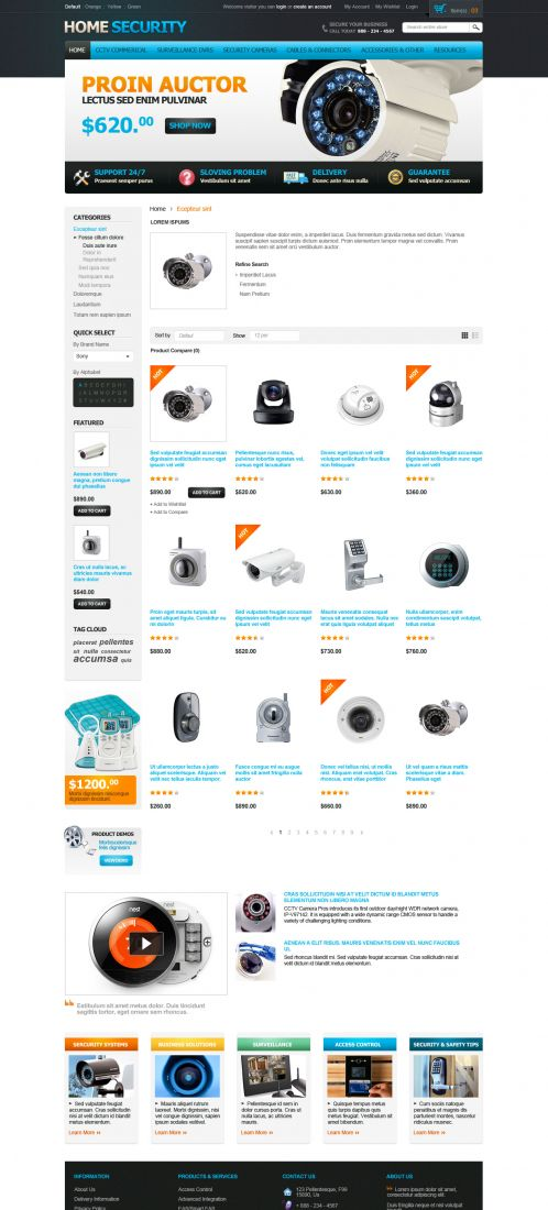 Home Security Responsive OpenCart Theme - Category Grid