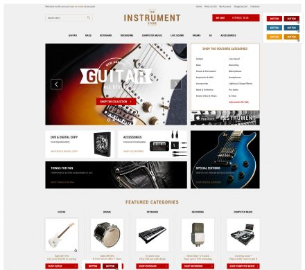 Musical Instrument Responsive OpenCart Theme - Instrument