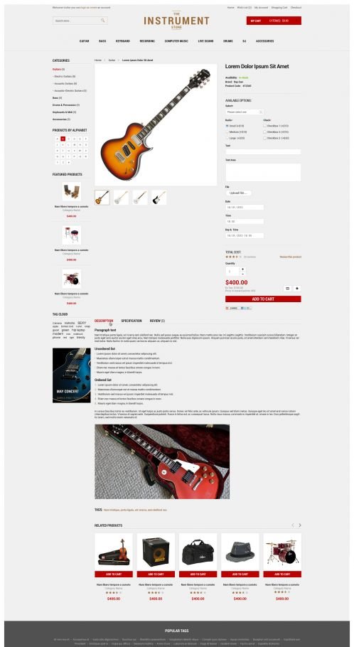 Bossthemes Instrument - Product