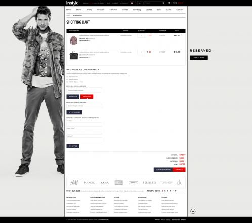 Bossthemes Instyle - Shopping Cart