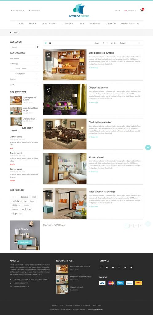 Bossthemes Interior - Blog