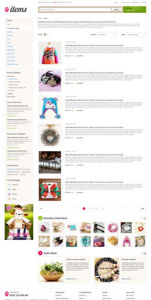 Bossthemes ItemStore - Blog