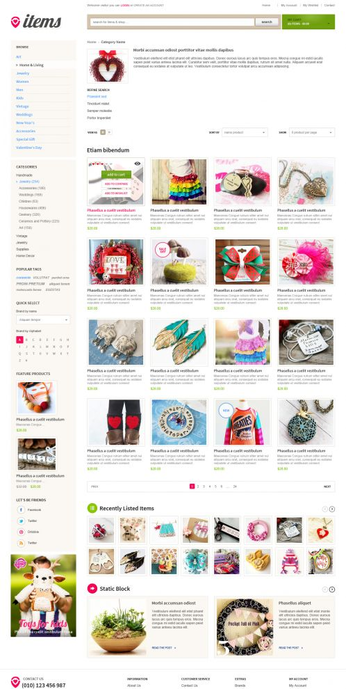 Bossthemes ItemStore - Category Grid