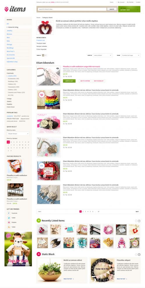 Bossthemes ItemStore - Category List