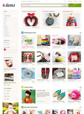 Esty OpenCart Theme - ItemStore
