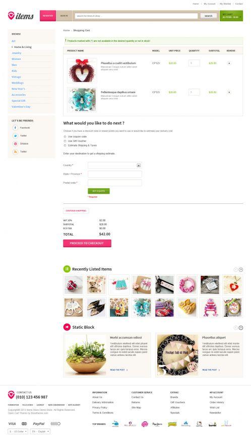Bossthemes ItemStore - Shopping Cart