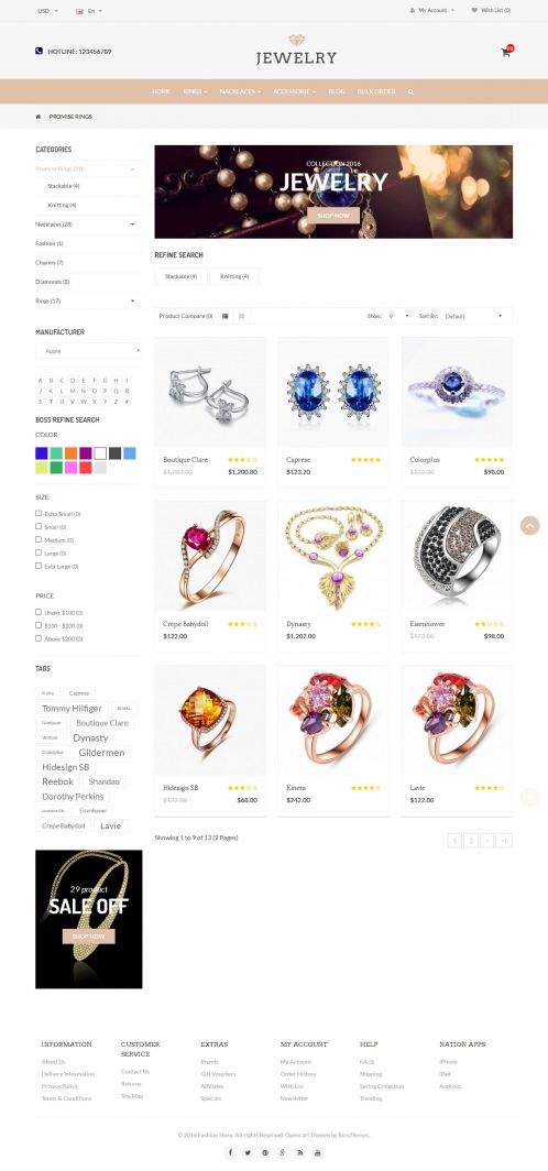 Bossthemes Jewelry - Category Grid