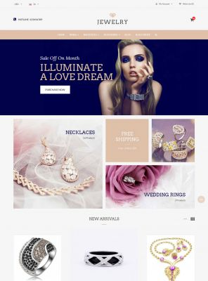 Beauty & Jewelry Responsive OpenCart Theme
