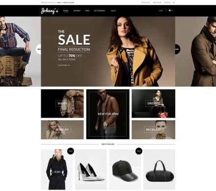 Johnny - Fashion Responsive OpenCart Theme