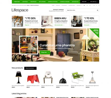 Furniture Responsive OpenCart Template - Lifespace