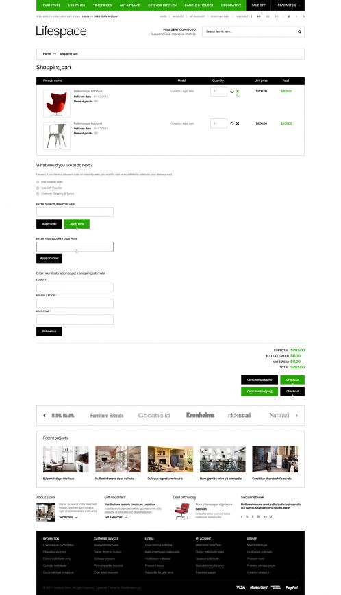 Bossthemes Lifespace - Shopping Cart