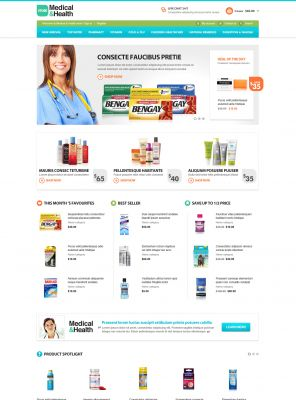 Medical Health Responsive OpenCart Theme