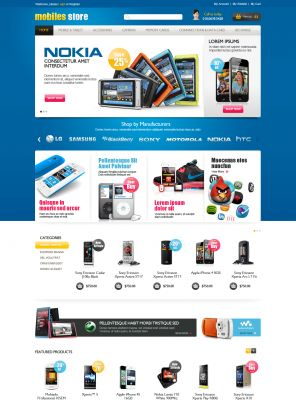 Mobile Store Responsive OpenCart Theme