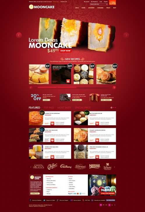 Mooncake OpenCart Theme - Home
