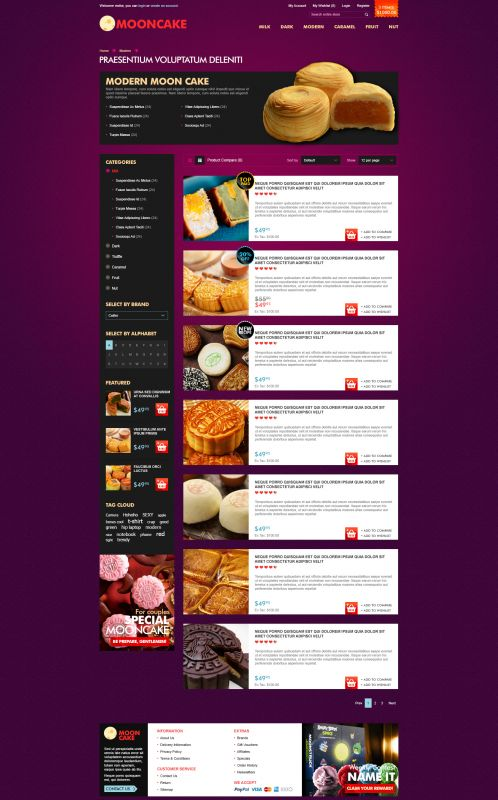 Mooncake OpenCart Theme - Category List