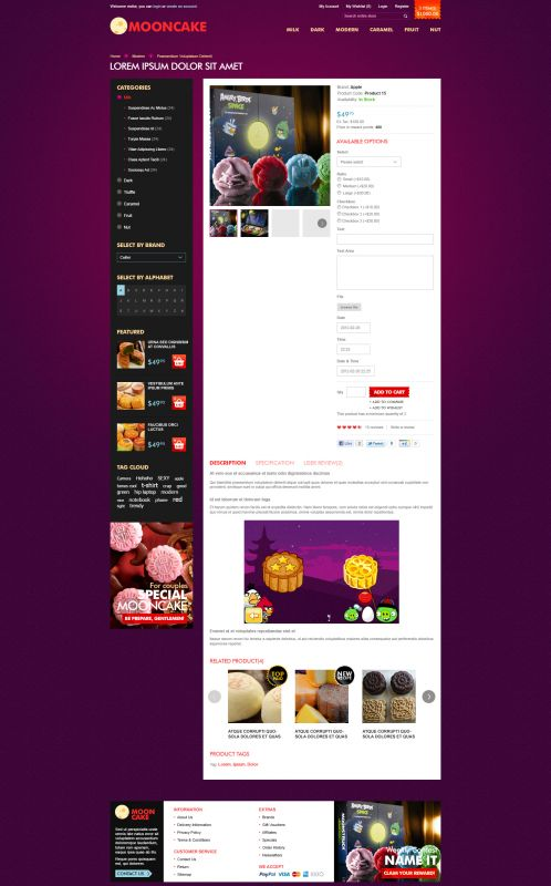 Mooncake OpenCart Theme - Product Details