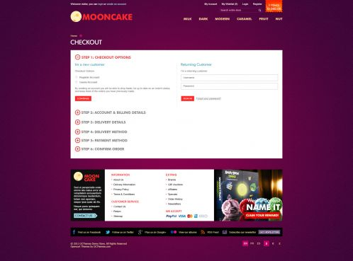 Mooncake OpenCart Theme - Checkout