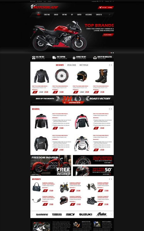 BossThemes MotorBlade - OpenCart Auto Parts Theme - Home Dark