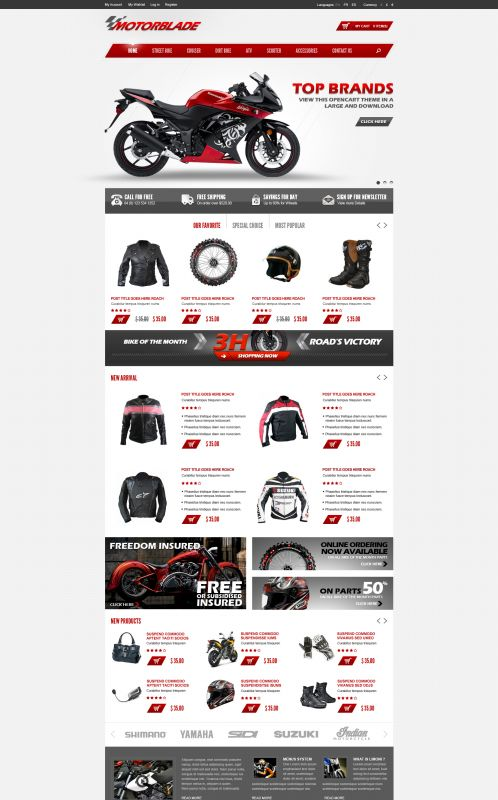 BossThemes MotorBlade - OpenCart Auto Parts Theme - Home Light