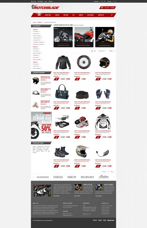 BossThemes MotorBlade - OpenCart Auto Parts Theme - Category Grid