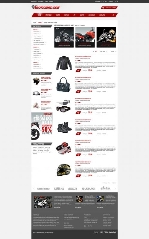 BossThemes MotorBlade - OpenCart Auto Parts Theme - Category List