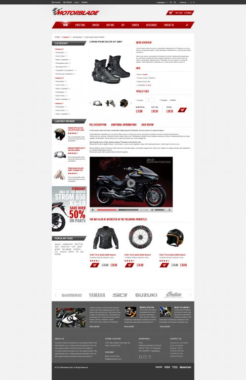 BossThemes MotorBlade - OpenCart Auto Parts Theme - Product Details