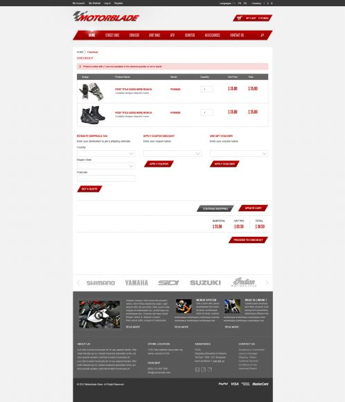 BossThemes MotorBlade - OpenCart Auto Parts Theme - Shopping Cart