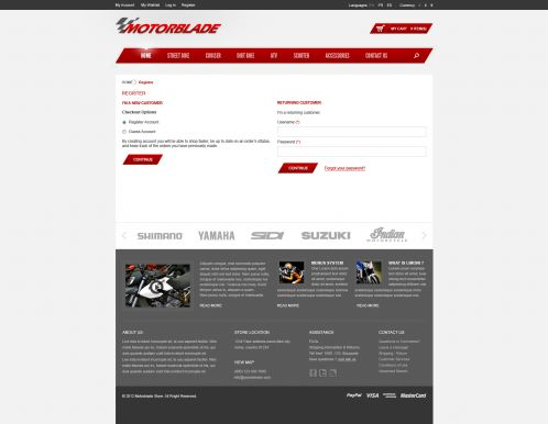 BossThemes MotorBlade - OpenCart Auto Parts Theme - Checkout