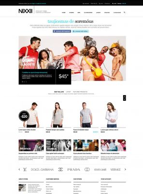Fashion OpenCart Theme - Nixx